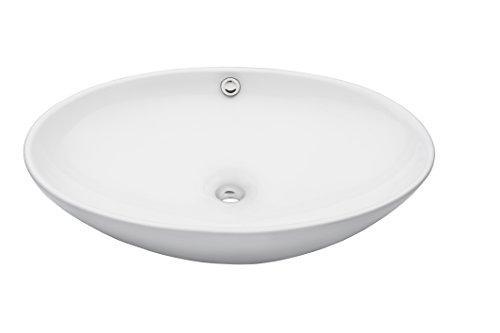 Novatto BIANCO UOVO Ceramic Vessel Sink With Overflow