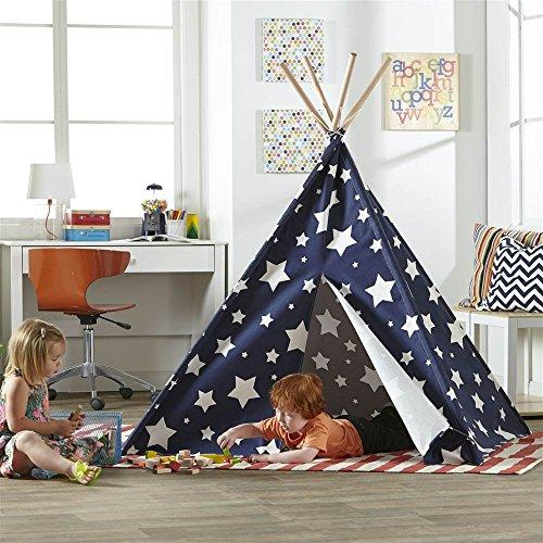 Children?s Teepee, Blue with White Stars