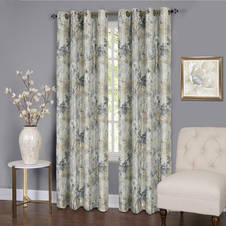 Tranquil Lined Window Curtain Grommet Panel