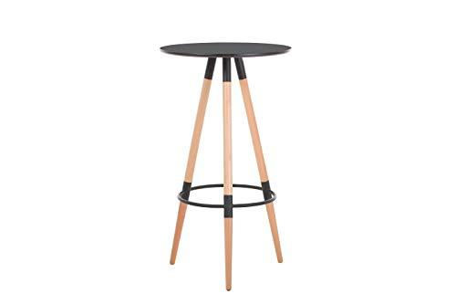 Commercial Seating Products Minimalist Mid Century Modern Design 14.5''x14.5'' Round Black Bar height Table