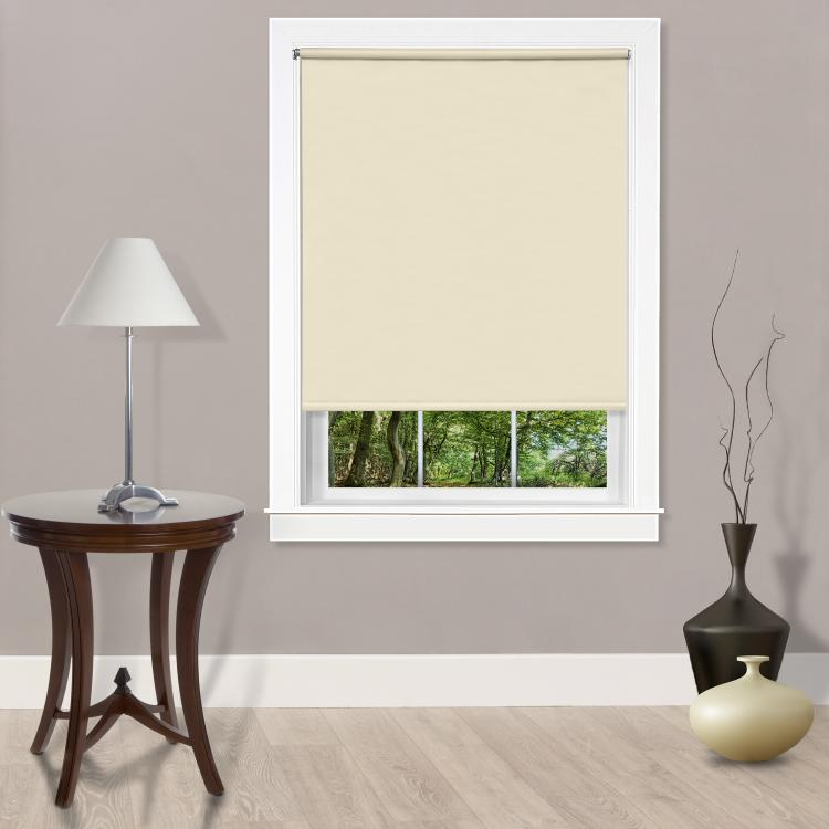 Achim Cords Free Tear Down Room Darkening Window Shade 55x72 Ivory