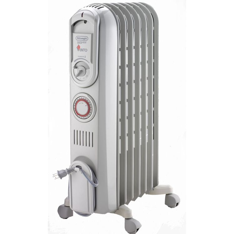 Vento Safeheat 1500W High-Speed Convection Oil-Filled Radiator with Timer in White