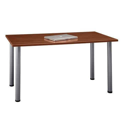 Bush  Furniture Aspen Tables 57W x 28-1/2D Large Rectangle Table in Hansen Cherry