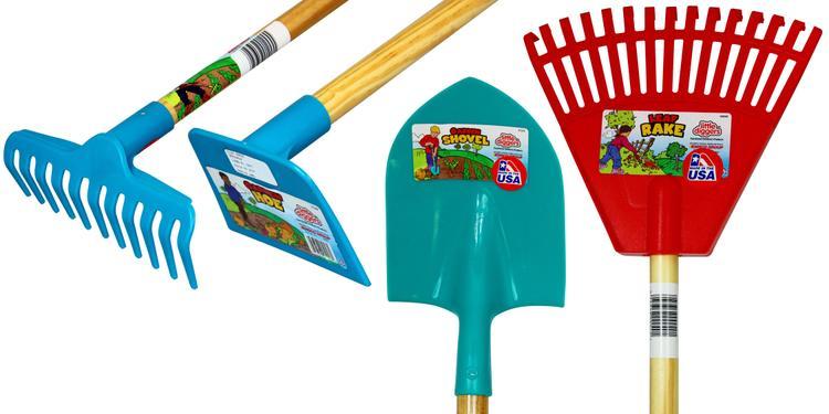 Cavex Little Diggers Kids Garden Tool Set  Four-Piece Set  Child Safe Tools  Garden with Your Kids