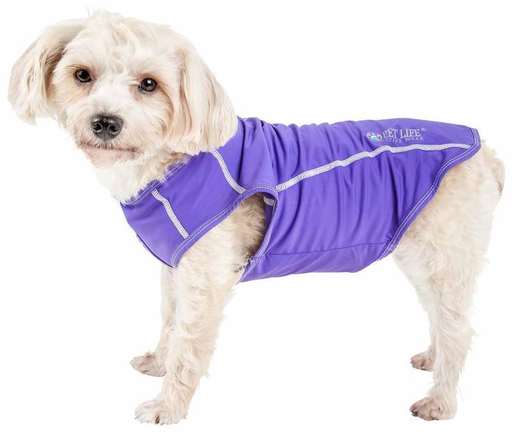 Pet Life ® Active 'Racerbark' 4-Way Stretch Performance Active Dog Tank Top T-Shirt