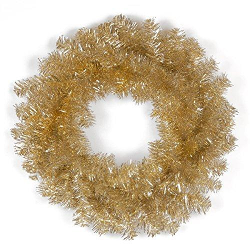 Champagne Tinsel Wreath