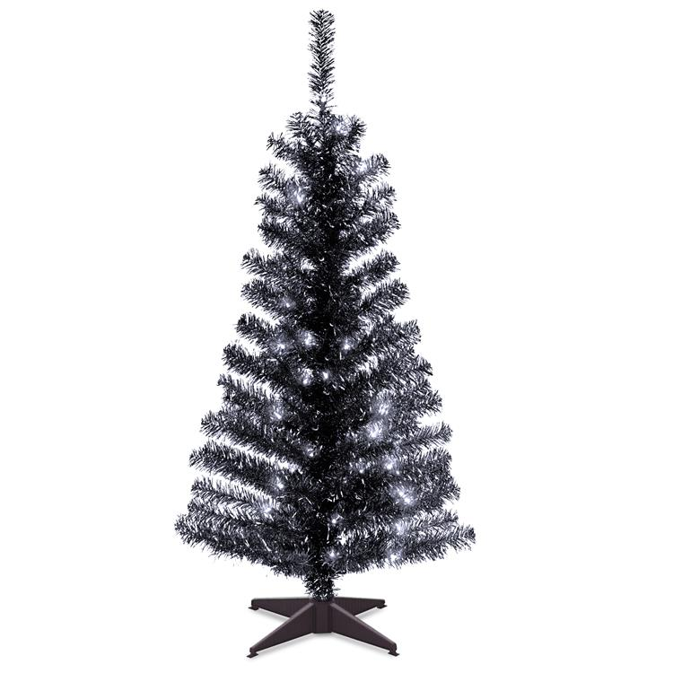 National Tree Tinsel Artificial Christmas Tree with Clear Lights [Item # TT33-304-40]