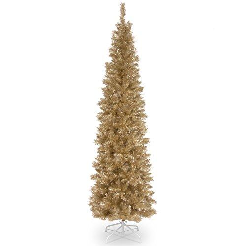 National Tree Champagne Tinsel Tree [Item # TT33-702-60]