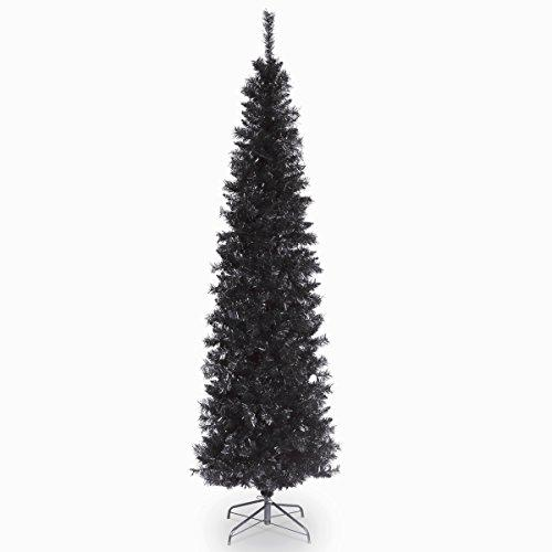 National Tree Black Tinsel Tree - [TT33-704-30-1]