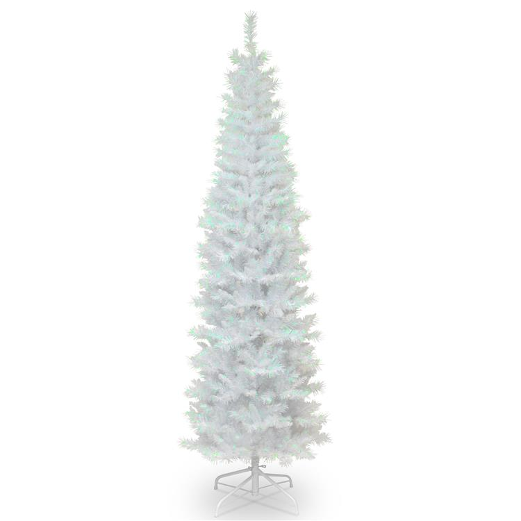 National Tree White Iridescent Tinsel Tree
