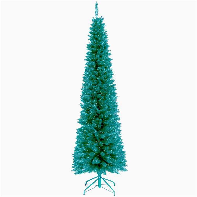 National Tree Turquoise Tinsel Tree