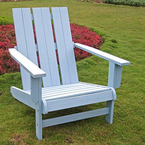 International Caravan Acacia Large Square Back Adirondack Chair