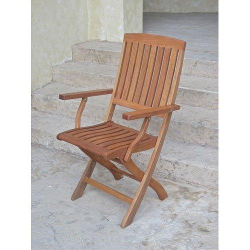 International Caravan Royal Tahiti Folding Arm Chairs [Item # TT-FA-40-2CH]