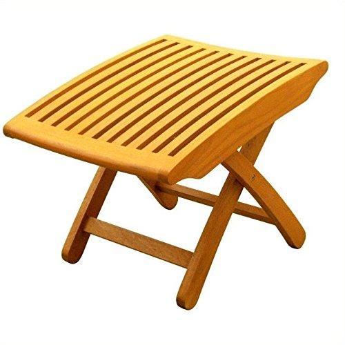 International Caravan Royal Tahiti Folding Wood Foot Rest