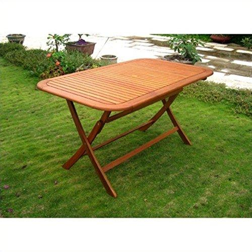 International Caravan Royal Tahiti Rectangular Folding Table