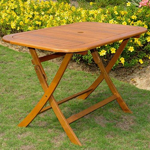 International Caravan Acacia Rectangular Folding Table