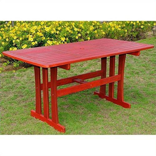 International Caravan Acacia Rectangular Dining Table