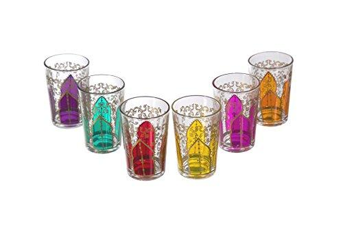 Tamansour Tea Glasses Mix - Set of 6