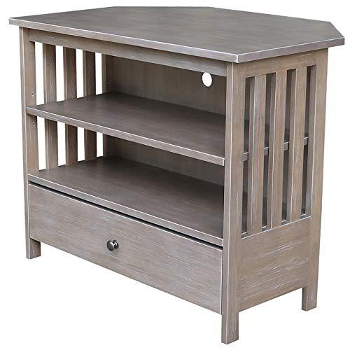 International Concepts Mission Corner TV Stand - Washed Gray Taupe