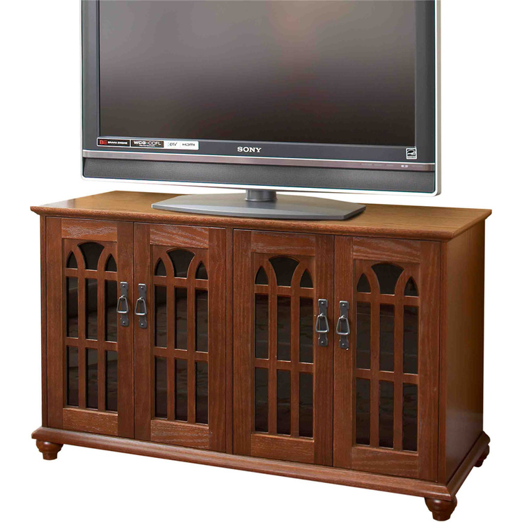 Leslie Dame Inlaid Mission Style Flat Panel TV Cabinet (TVGD Series)