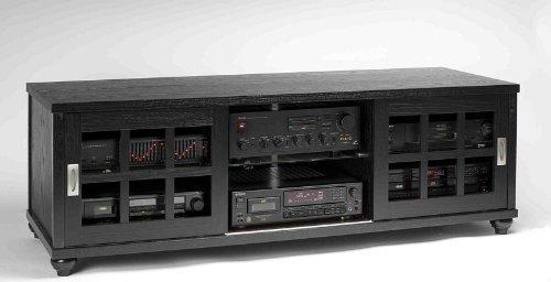 Leslie Dame Sliding Door Flat Panel TV Cabinet (TVSD Series) [Item # TVSD-60BLK]