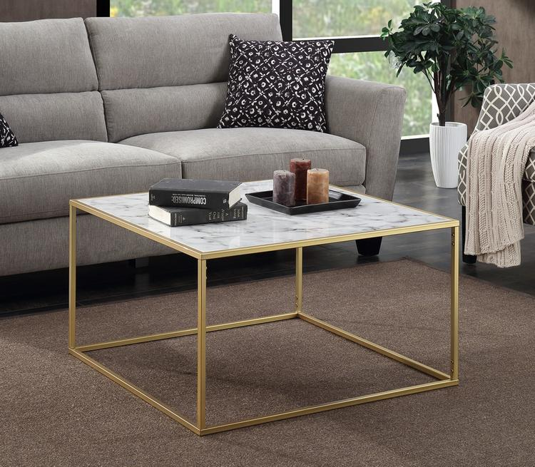 Gold Coast Faux Marble Coffee Table