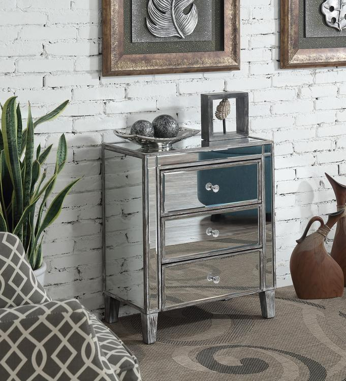 Gold Coast 3 Drawer Mirrored Chest