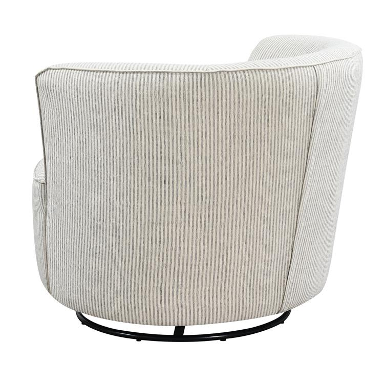 Wallace & Bay Branch Classic Stripe Swivel Accent Chair with Glider-Rocker, 360° Swivel, And Barrel Back