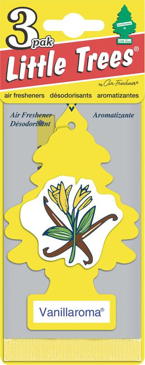Car Freshner U3S-32005 Vanillaroma® Little Tree® Air Fresheners 3 Pack