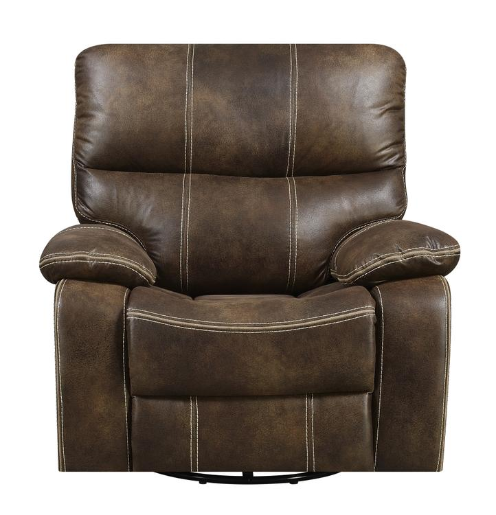 Emerald Home Jessie James Chocolate Brown Swivel Reclining Glider with Swivel, Glide, And Recline Motion