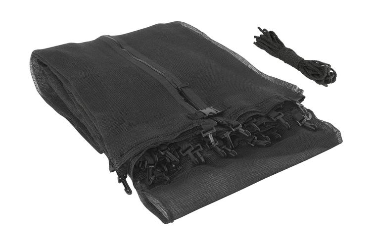 Trampoline Replacement Enclosure Safety Net, Fits For 14 FT. Round Frames, Using 4 Arches, with Sleeves on top -NET ONLY