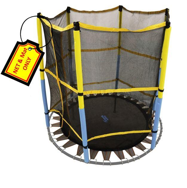 Trampoline Replacement Jumping Band Mat With Attached Safety Net For 55