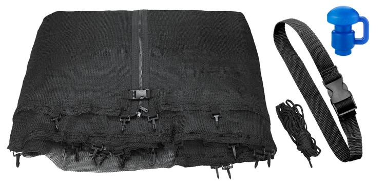 Trampoline Replacement Enclosure Net, Fits For 16 FT. Round Frames (All brands), Works with multiple amount of poles - Pole Caps Included