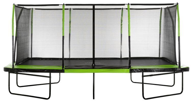 Upper Bounce - Mega Trampoline 10' X 17' - Fiber Flex Enclosure System - Easy Assemble