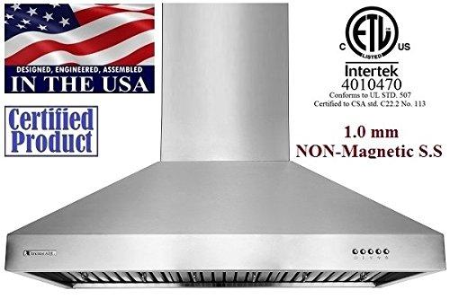XtremeAIR Ultra Non-Magnetic Wall Mount Range Hood
