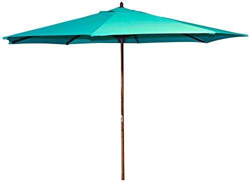 9 FT Wood Market Umbrella in Aruba