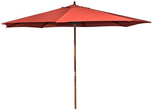 9 FT Wood Market Umbrella in Melon