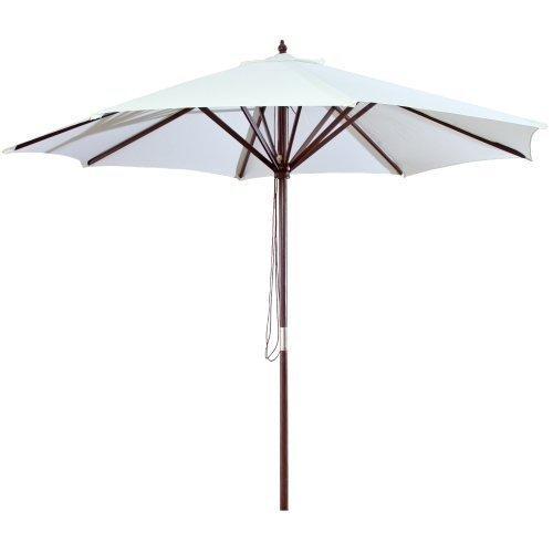 9 FT Wood Market Umbrella in Natural