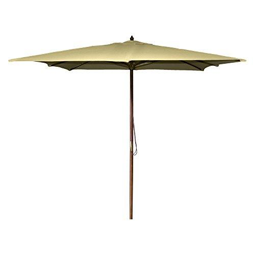 8.5 FT Square Wood Umbrella in Khaki