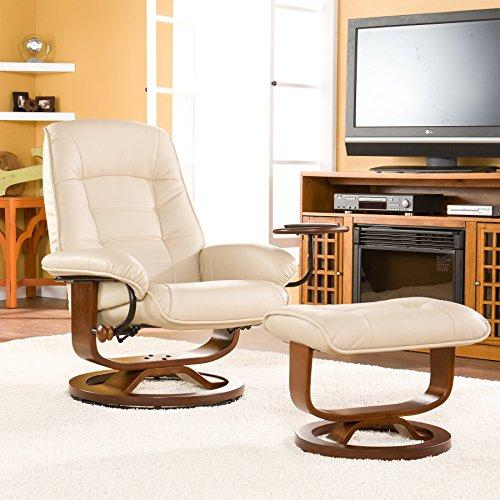 Southern Enterprises Bonded Leather Recliner And Ottoman