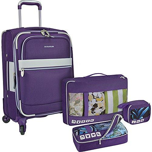 U.S. Traveler Alamosa 4-Piece Carry-On Luggage Set, Purple