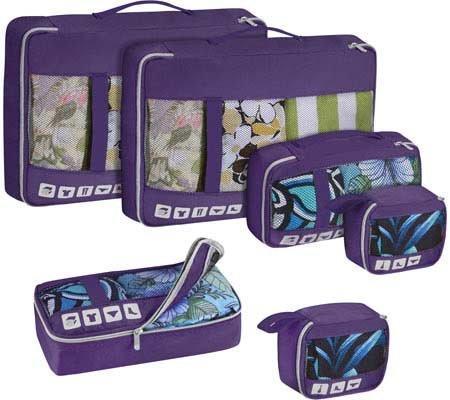 U.S. Traveler Alamosa 6-Piece Packing Cube Set, Purple