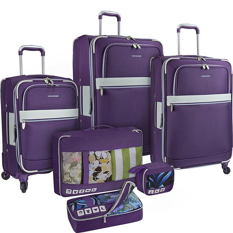 U.S. Traveler Alamosa 6-Piece Luggage Set, Purple
