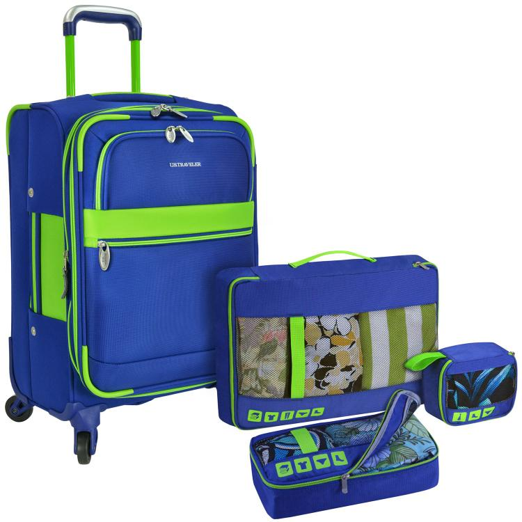 U.S. Traveler Alamosa 4-Piece Carry-On Luggage Set, Navy