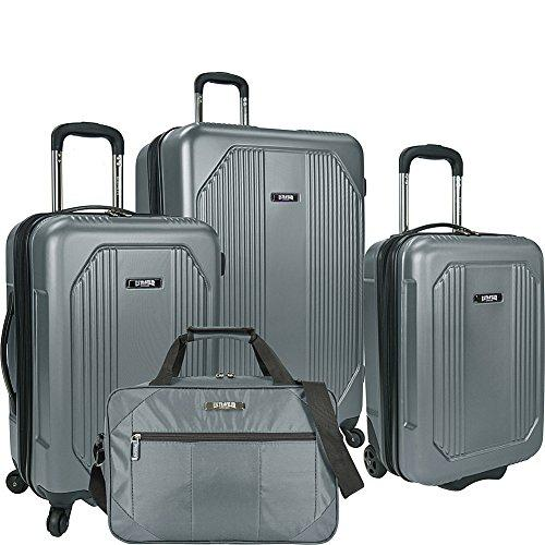 U.S. Traveler Bloomington 4-Piece Spinner Luggage Set, Grey