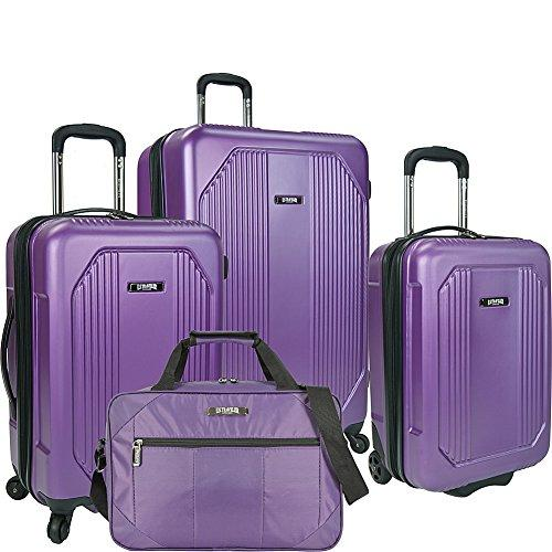 U.S. Traveler Bloomington 4-Piece Spinner Luggage Set, Purple