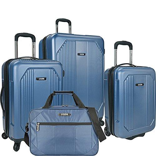 U.S. Traveler Bloomington 4-Piece Spinner Luggage Set, Blue