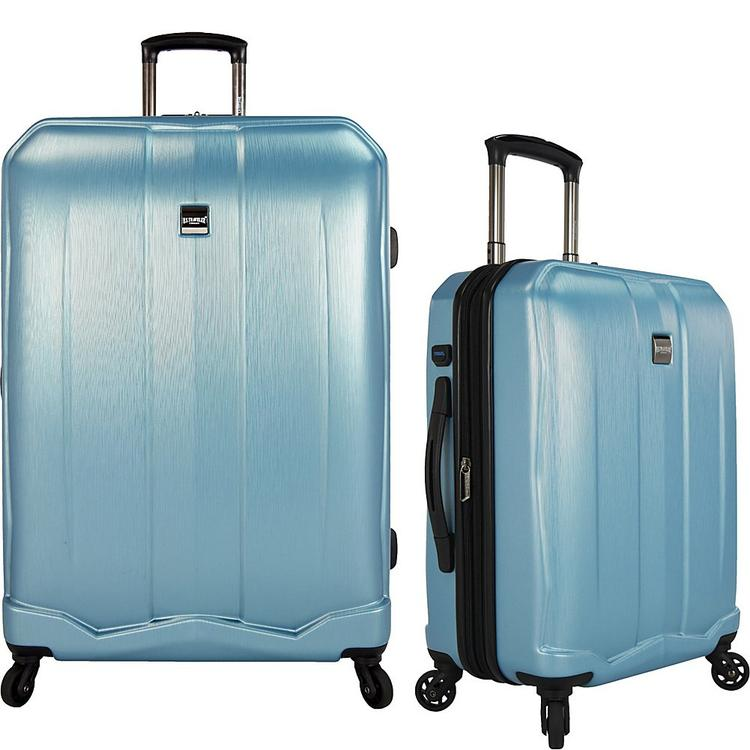 U.S. Traveler Piazza 2-Piece Smart Spinner Luggage Set, Teal