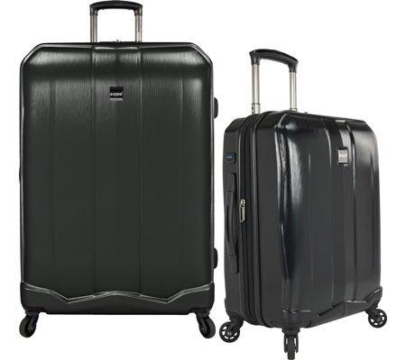 U.S. Traveler Piazza 2-Piece Smart Spinner Luggage Set, Black