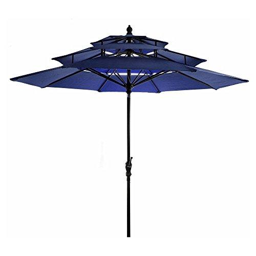 9FT 3-Tier Umbrella in Navy